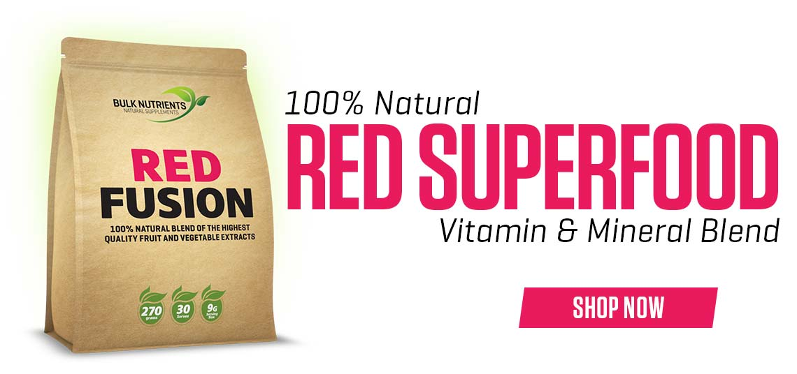 Red Fusion is our 100% natural fruit and vegetable powders blend!