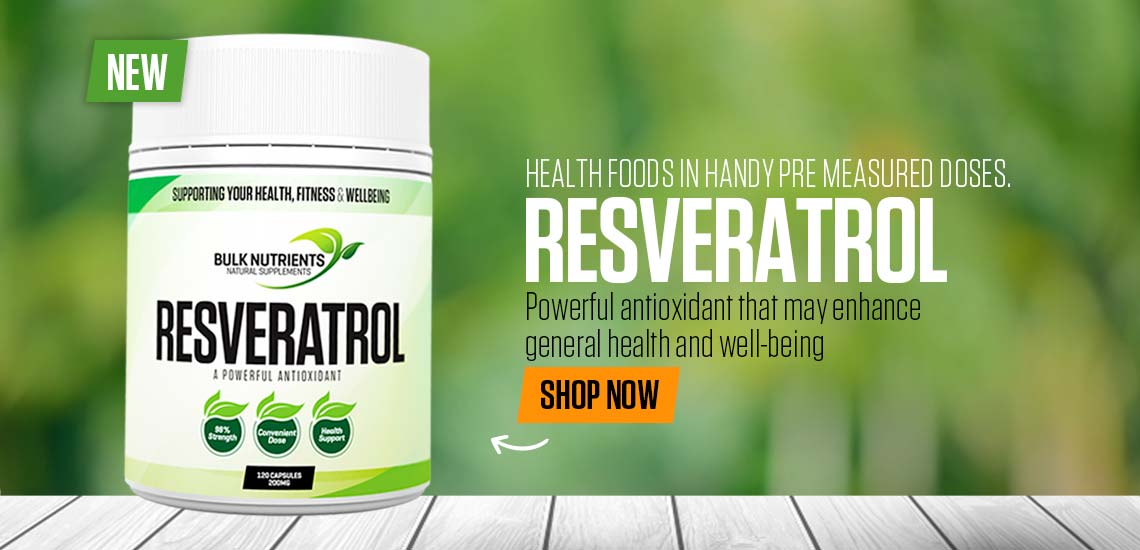 NEW - Resveratrol Capsules - Powerful antioxidant that may enhance general health and well-being.