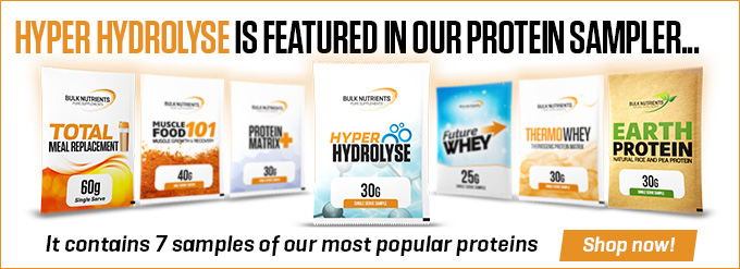 Hyper Hydrolyse is now featured in Bulk Nutrients' Protein Sampler