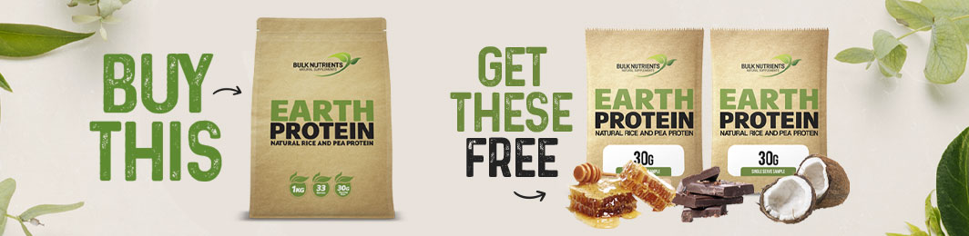 For a limited time only, when you purchase Earth Protein you'll also receive a free sample of Choc Coconut and Choc Honeycomb Earth Protein to try! - Shop Now