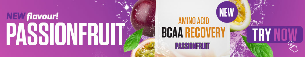 New flavour - BCAA Recovery Passionfruit. Try Now