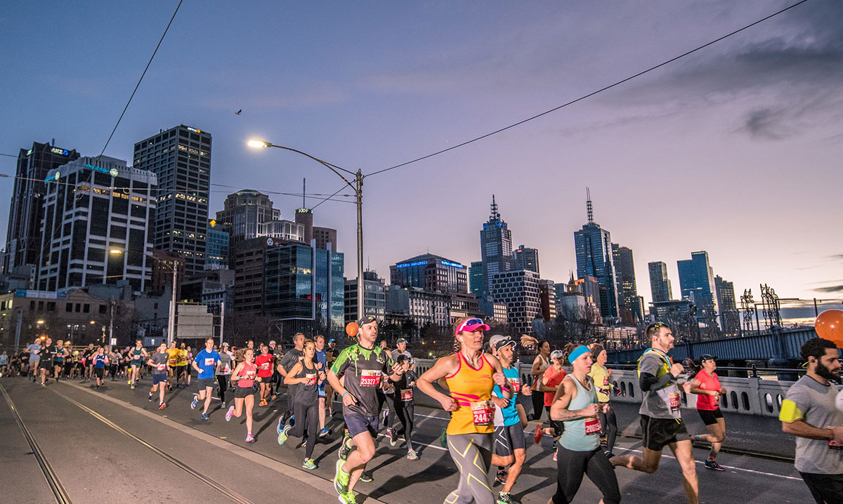 For this iconic event, Runners take over the city of Melbourne in the name of fitness
