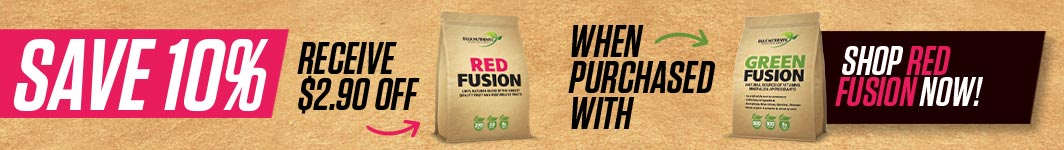Save 10% off Red Fusion when purchased with Green Fusion - Receive $2.90 off