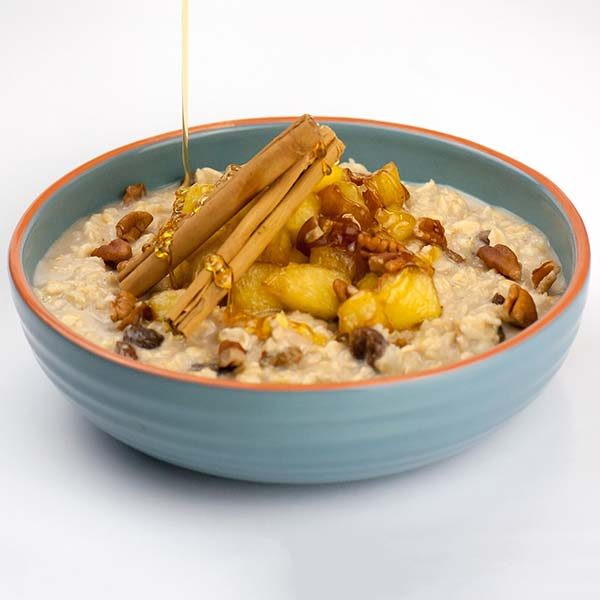 winter apple spiced oats