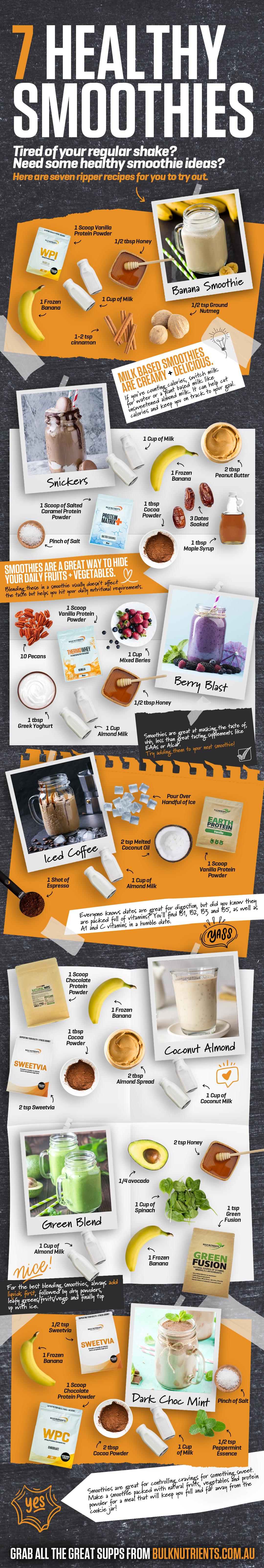 Bulk Nutrients' 7 Super Smoothies