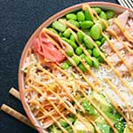 Smoked Salmon and Edamame Poke Bowl
