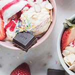 High Protein Strawberry Sundae