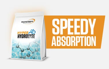 Bulk Nutrients' HASTA certified Hyper Hydrolyse is rapidly absorbed to aid in maximum muscle gain