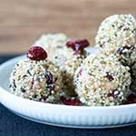 High Protein Nutty Cranberry Balls