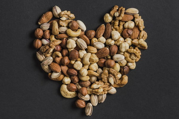 Nuts are a good source of healthy fats