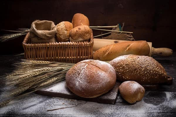 Bread and grains.