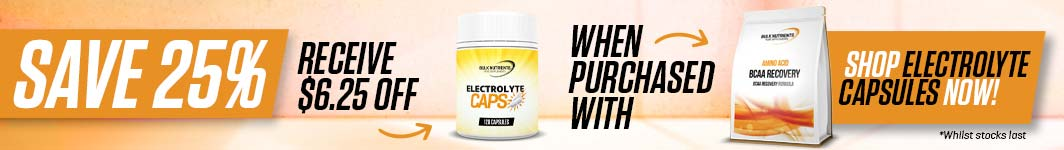 Save 25% off Electrolyte Capsules when purchased with BCAA Recovery - Receive $6.25 off