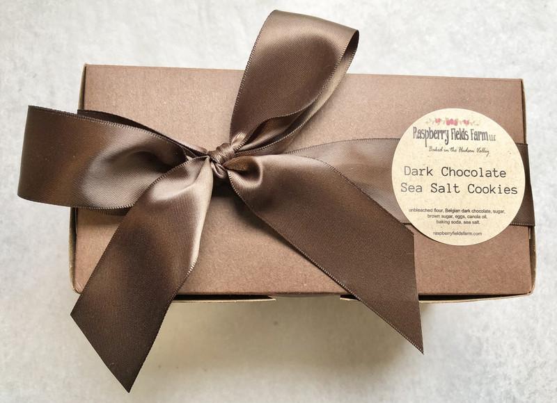 Belgian Dark Chocolate  Sea Salt Cookies - One Dozen
