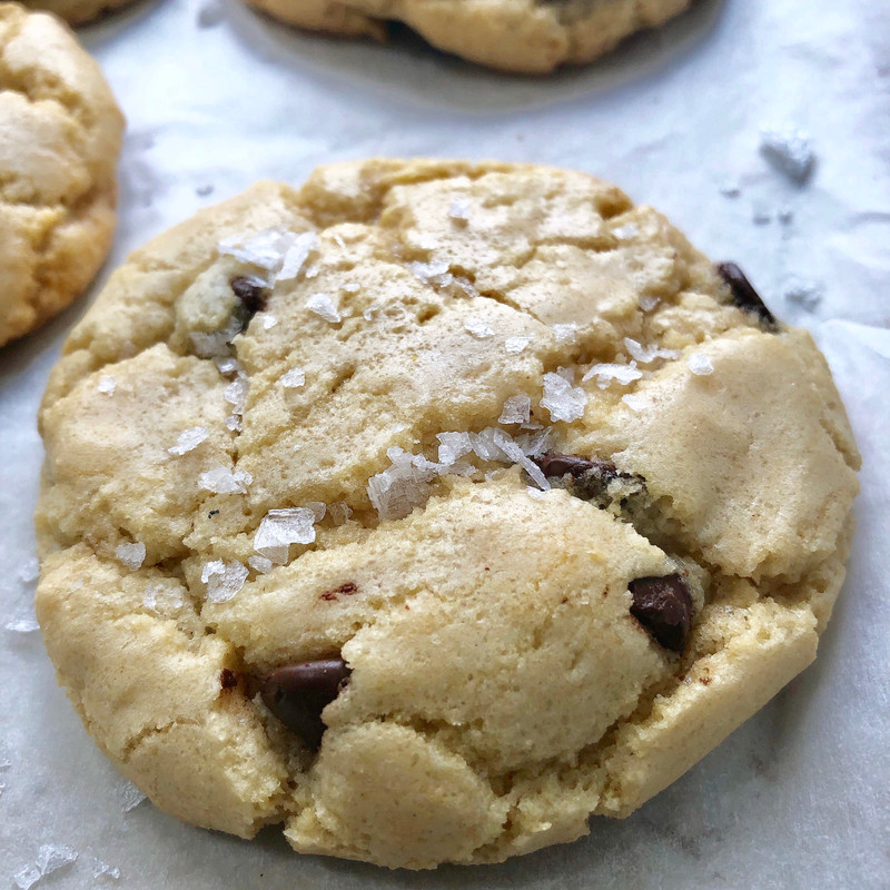 Belgian Dark Chocolate  Sea Salt Cookies - One Dozen
