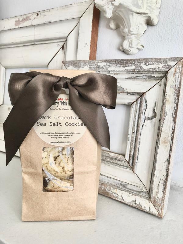 Belgian Dark Chocolate  Sea Salt Cookies