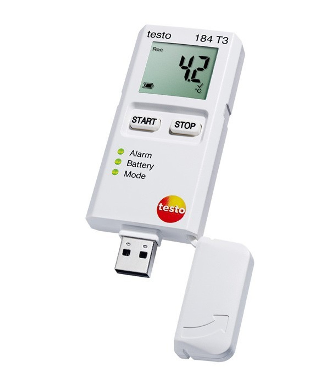 Testo 184 T3 temperature data logger - USB connection.