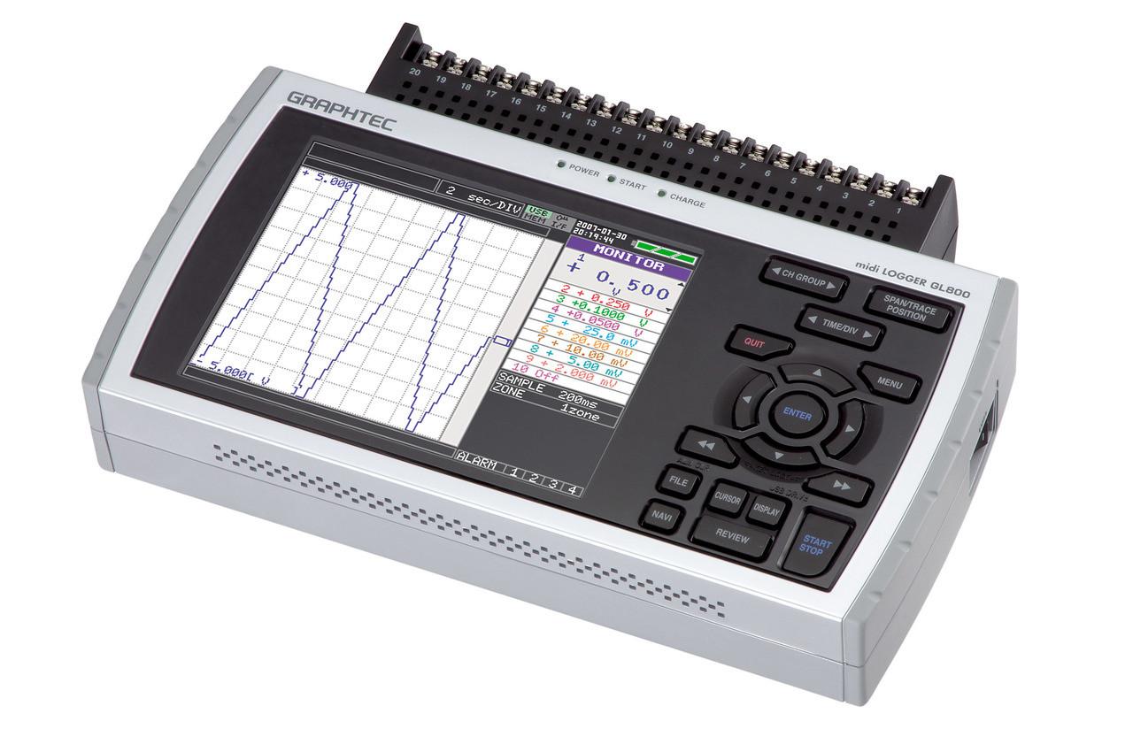 Graphtec GL800 data logger