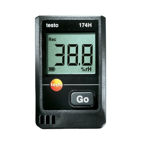 Testo 174H humidity and temperature data logger.