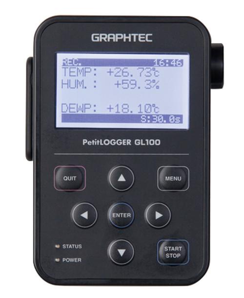 Graphtec GL100-WL data logger.