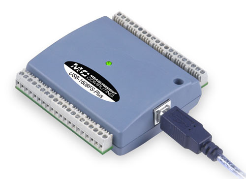 Measurement Computing USB-1608FS-Plus data acquisition module.
