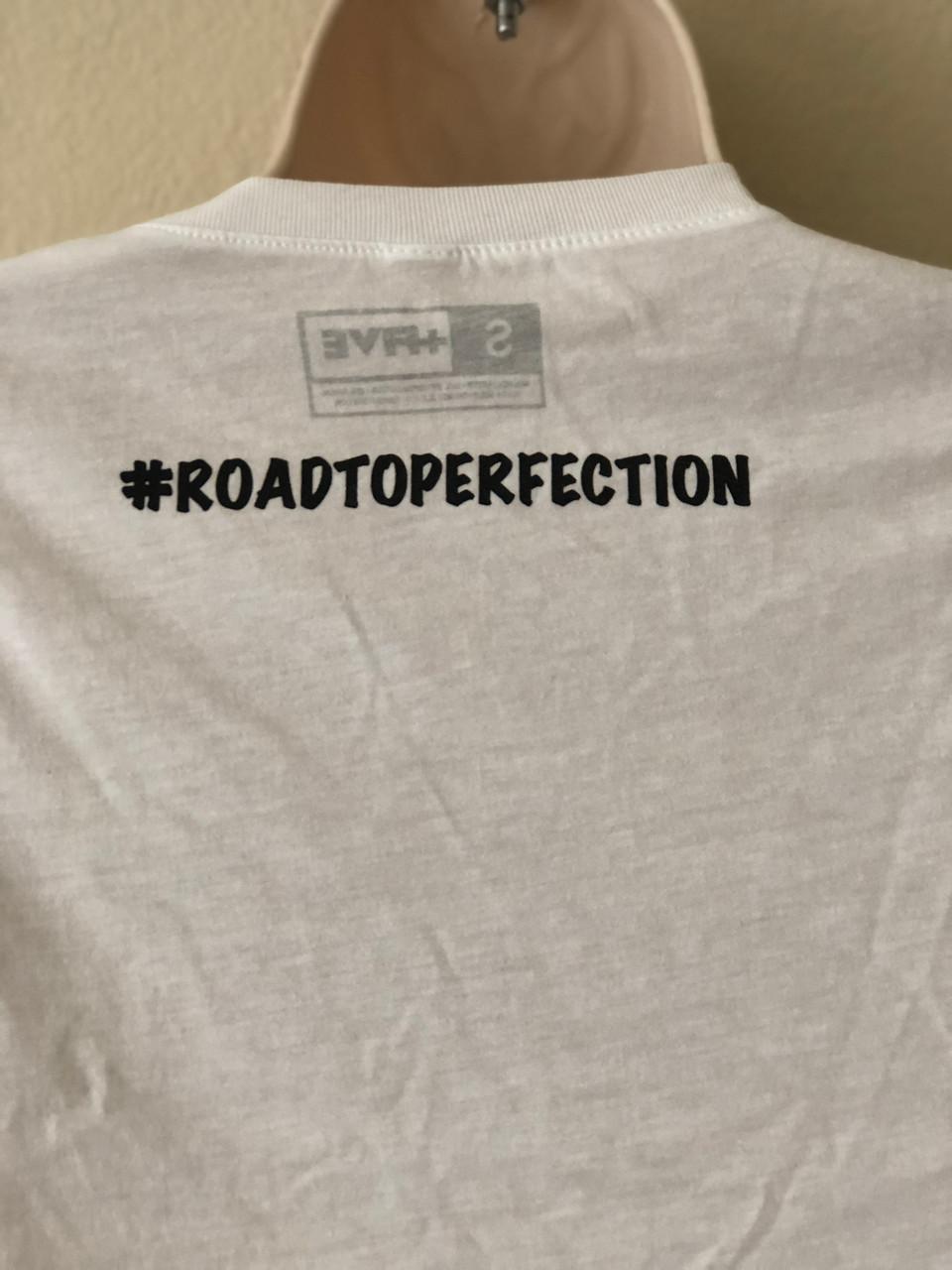 Plus Five Essential #ROADTOPERFECTION Kids Tee