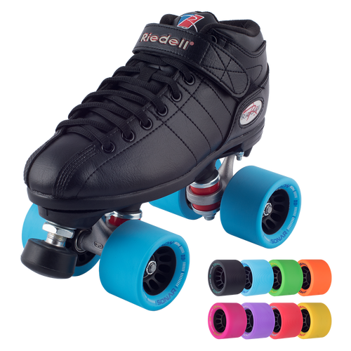 Choose Color Riedell R3 Derby RS Quad Roller Speed Skates w// Radar POP Wheels