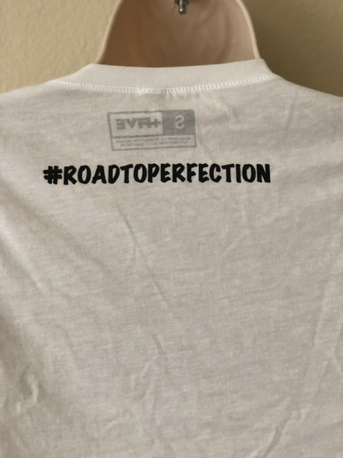 Plus Five Essential #ROADTOPERFECTION Kids Tee