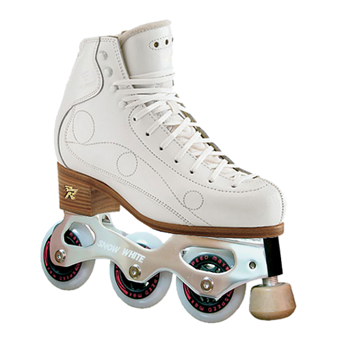 Snow White Double L's Inline Figure Skate Chassis