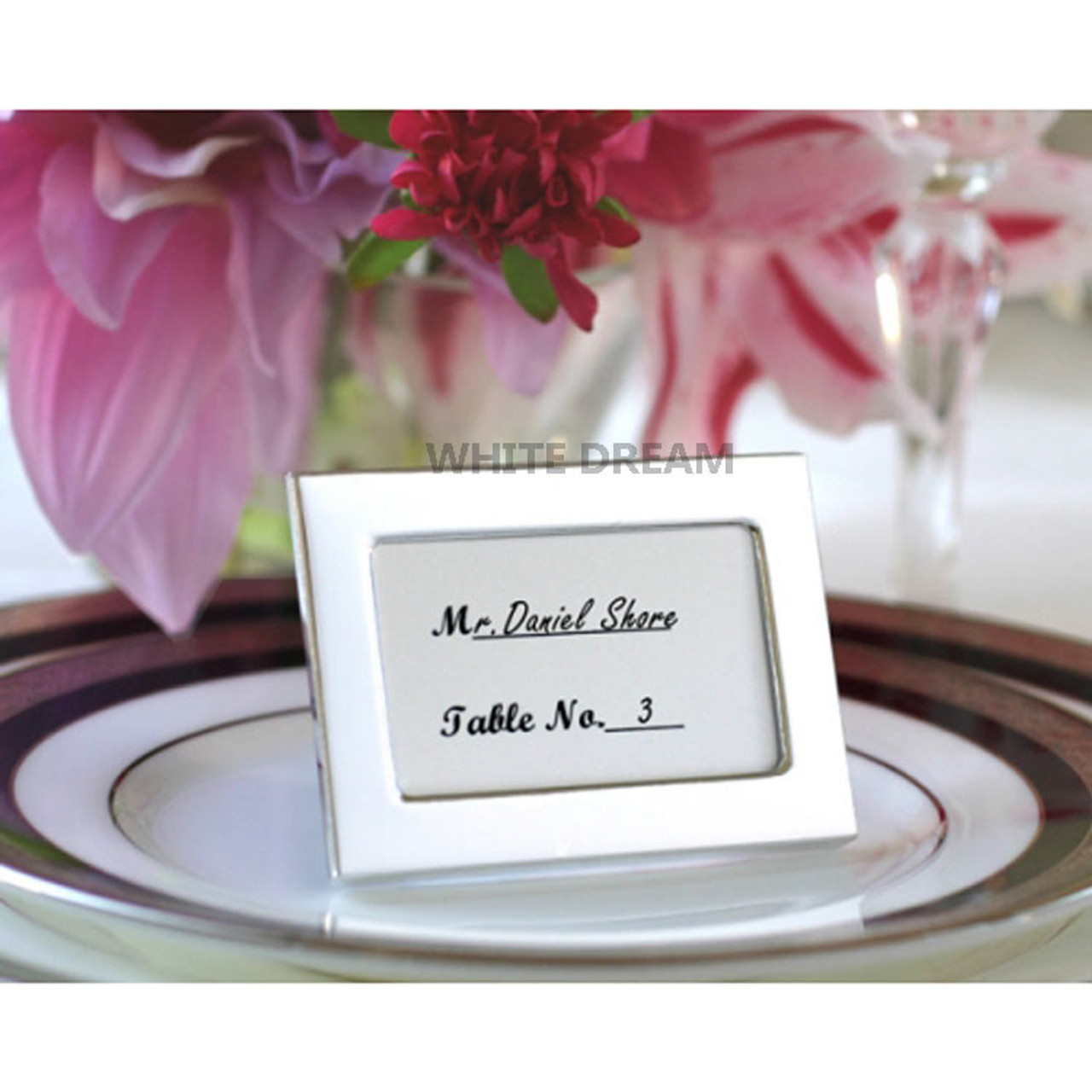 Silver Photo Frames Wedding Favour Place Card Miniature