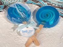 Sweet Treats Blue Lollipop Soap Favour