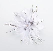 Feather Hair Clip White