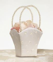 Elegant Wedding Basket Ivory