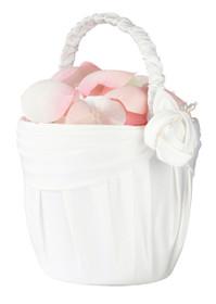 Cream Rose Flower Basket