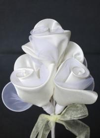 Three Rose Racquet In Cream - Set of 12