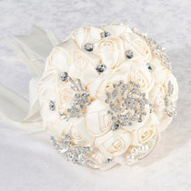 Crystal Flower Bouquet Ivory