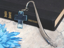 Blessed Events Blue Cross Bookmark