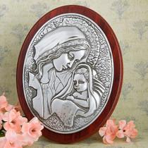Madonna And Child Plaque Round