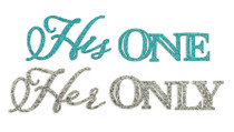 His One Her Only Shoe Sticker Set