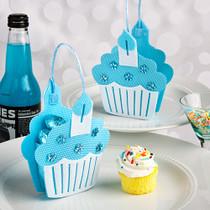 Blue Cupcake Treat Bags