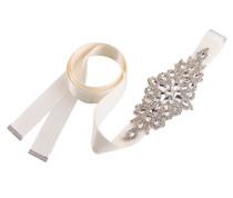 Rhinestone Bridal Belt Ivory