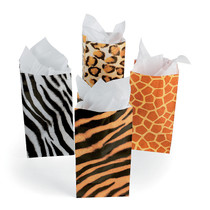 12 x Animal Print Bags