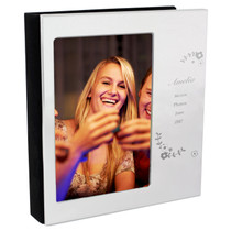 Personalised Vintage Floral Photo Frame Album 6x4