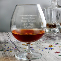 Personalised Decorative Brandy Glass