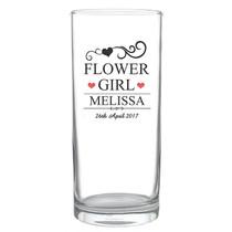 Personalised Mr & Mrs Flower Girl Hi Ball Glass