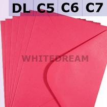 Fuchsia Pink Envelopes - C7, C6, C5, DL, 5'x7' Sizes