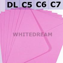 Candy Pink Envelopes - C7, C6, C5, DL, 5'x7' Sizes