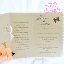 Personalised Butterflies Wedding Invitations