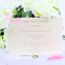 Personalised Heart, Rings & Flowers Wedding Invitations