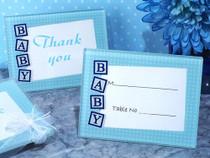 Precious Baby Blue Glass Photo Frame