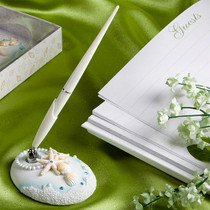 Finishing Touches Collection Beach Themed Wedding Pen And Holder Set